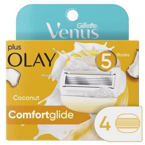 Venus ComfortGlide plus Olay Coconut Scented 5-Blade Women's Razor Blade Refills - image 1 of 4