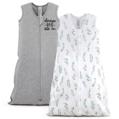 The Peanutshell Sleep Bag Dream Big/Floral Leaves - M/L 2pk