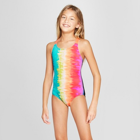 Girls  Happy Days One Piece Swimsuit Set - Cat   Jack™   Target 915c90b1cb56
