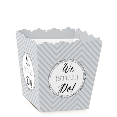 Big Dot of Happiness We Still Do - Party Mini Favor Boxes - Wedding Anniversary Party Treat Candy Boxes - Set of 12