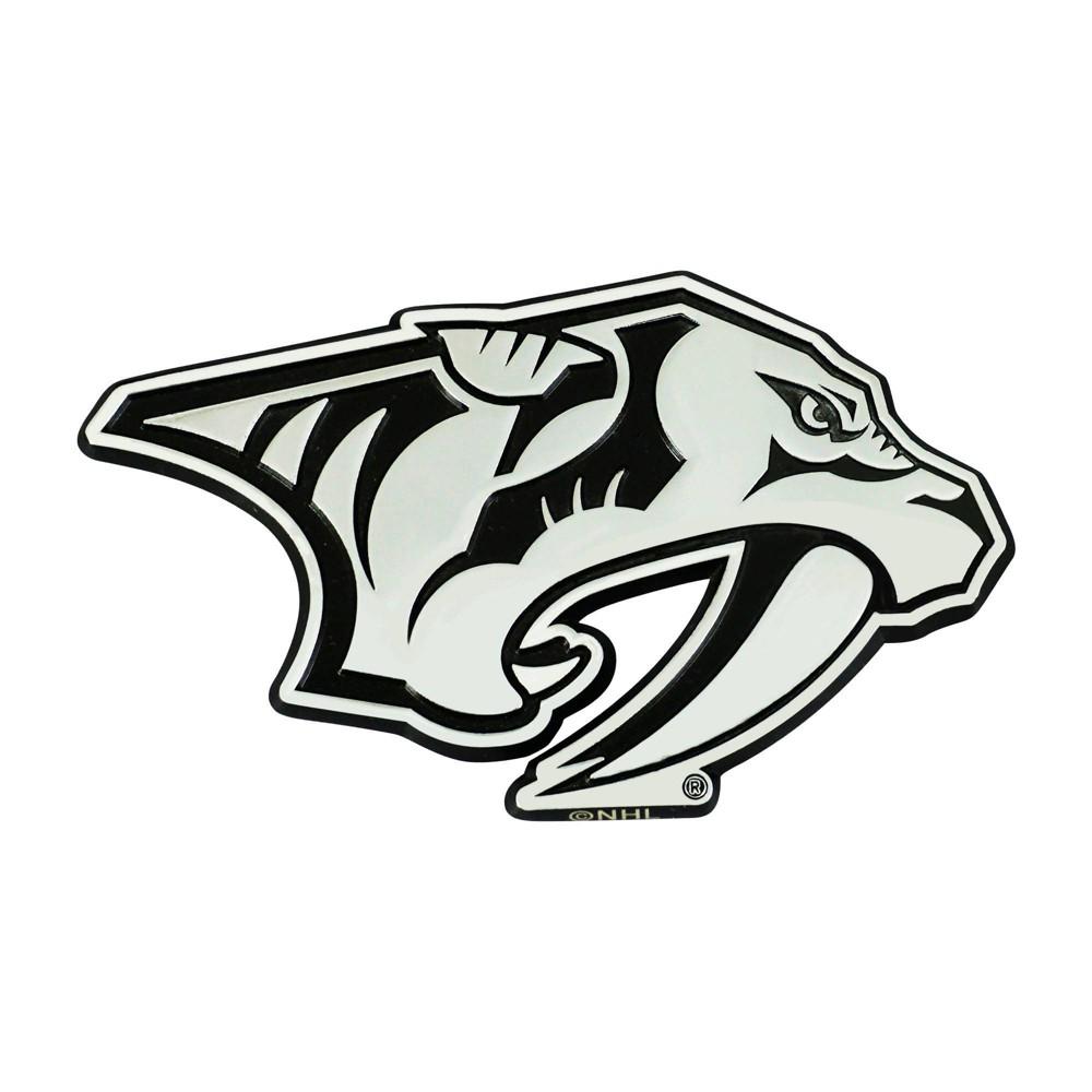 Nhl Nashville Predators 3d Chrome Metal Emblem