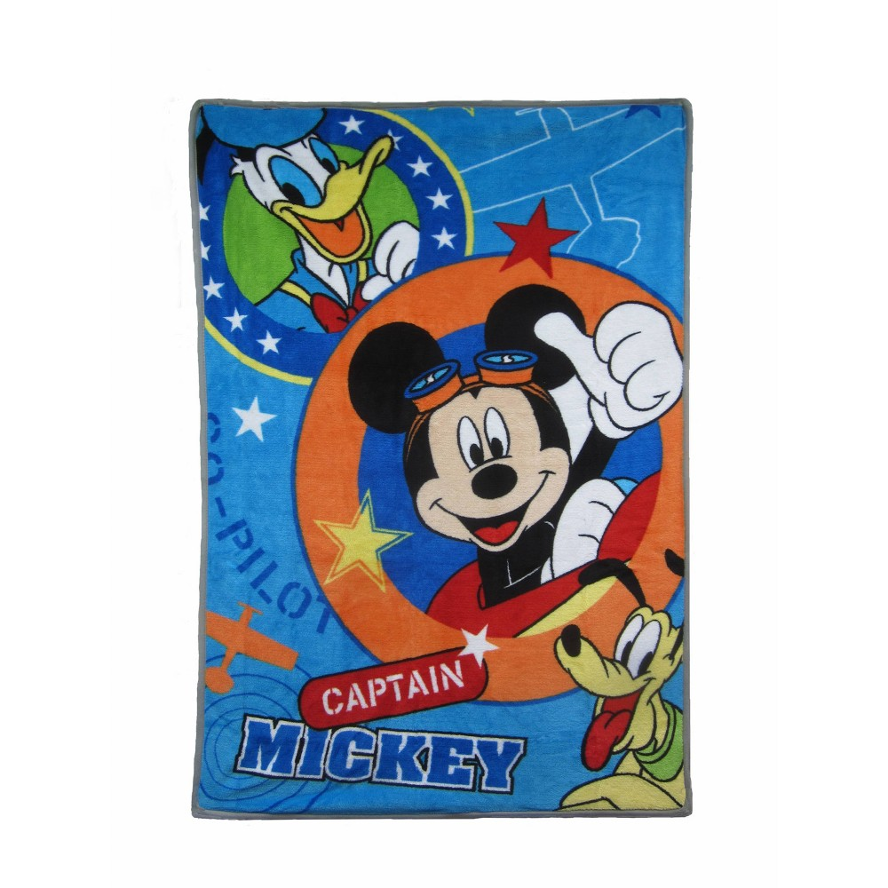 Image of Disney Captain Mickey Toddler Bed Blanket