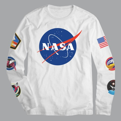 Men's NASA Pop Culture Long Sleeve T-Shirt - White - image 1 of 1