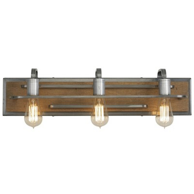 Varaluz 6  H x 25.63  W Lofty 3 Bath Light Steel