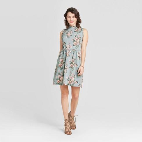 Women's Floral Print Sleeveless Knit Skater Dress - Xhilaration™ - image 1 of 2