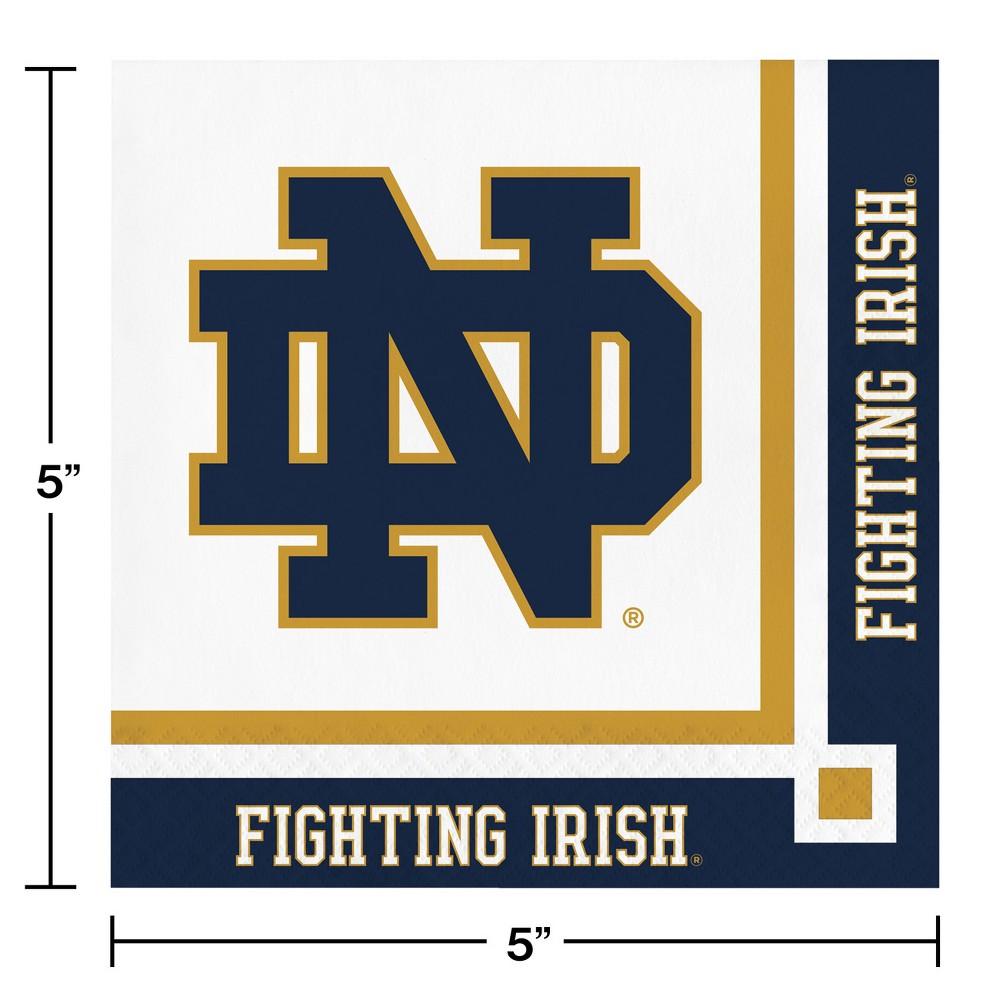 Image of 20ct Notre Dame Fighting Irish Beverage Napkins