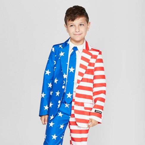 Suitmeister Boys' American Flag Full Suit Jacket - image 1 of 3