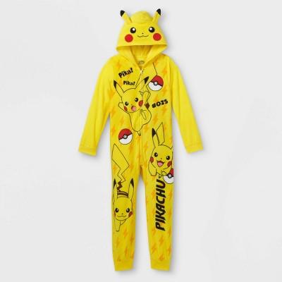Boys' Pokemon Pikachu Union Suit - Yellow