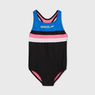 Speedo Girls' Colorblock One Piece Swimsuit