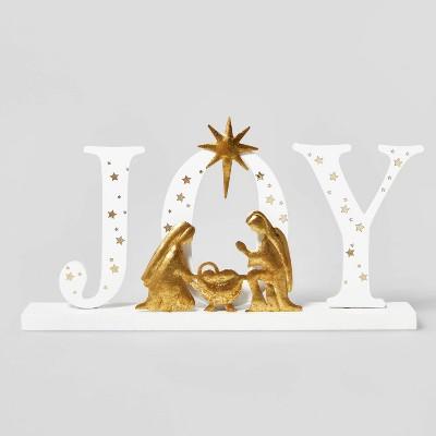 JOY Nativity Table Decor White/Gold - Wondershop™