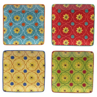 Canape Plate 6  Tunisian Sunset Set of 4 - Certified International