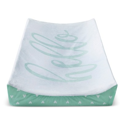 Plush Changing Pad Cover Hello - Cloud Island™ - Mint
