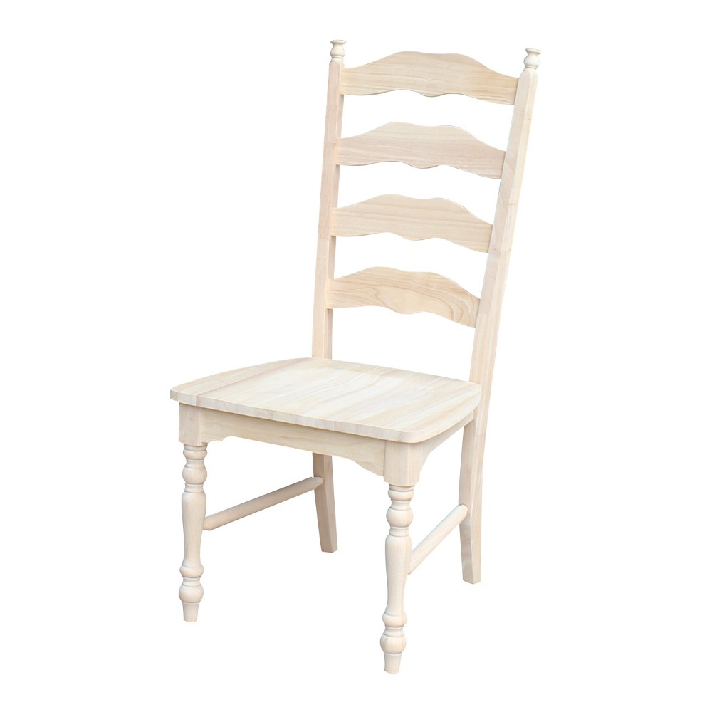 Set of 2 Maine Ladderback Chair Unfinished - International Concepts