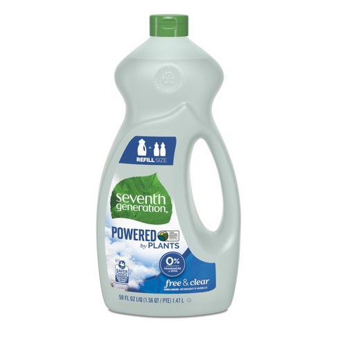 Seventh Generation Liquid Dish Soap Free & Clear - 50oz - image 1 of 4
