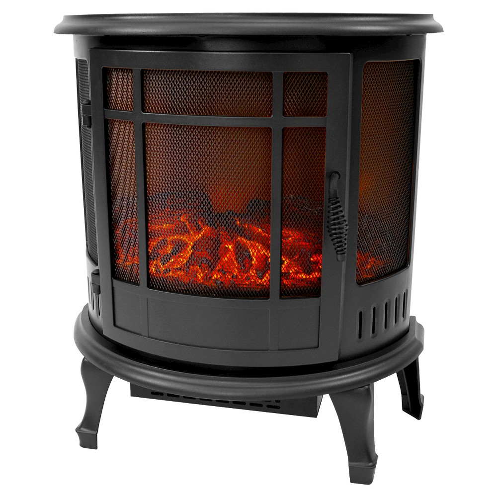 Richmond 180° Curved Infrared Stove Heater - Black - Estate Design