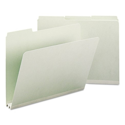 Smead Recycled File Folders, Two Inch Expansion, 1/3 Top Tab, Letter, Gray Green, 25/Box - image 1 of 8