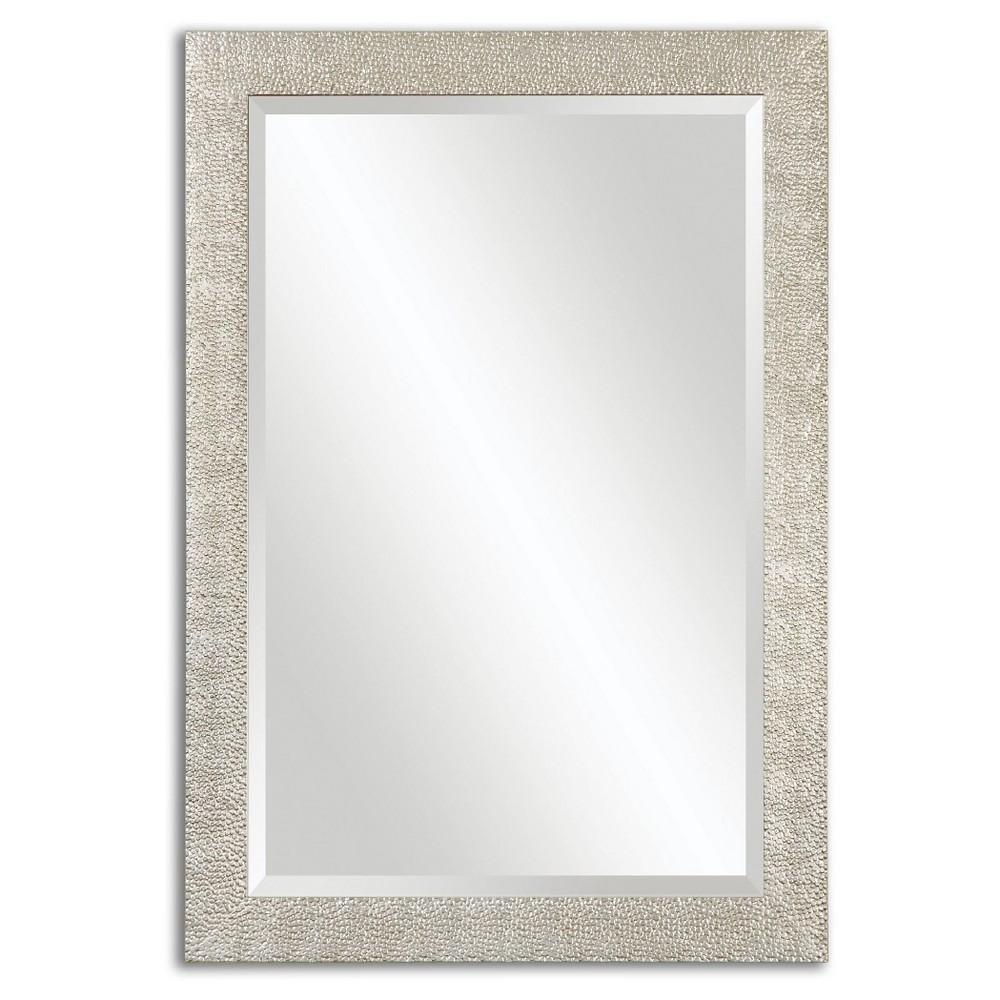Rectangle Porcius Antiqued Decorative Wall Mirror Silver - Uttermost, Medium Silver