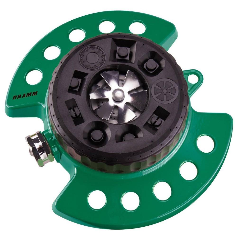 Image of ColorStorm 9 Pattern Turret Sprinkler Green - Dramm