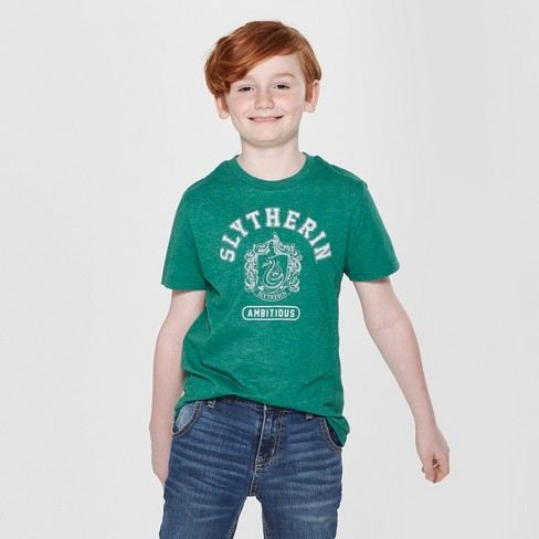 Boys' Harry Potter Slytherin Short Sleeve Graphic T-Shirt - Green - image 1 of 3