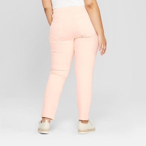 Women\'s Plus Size Skinny Jeans - Universal Thread™ Peach : Target
