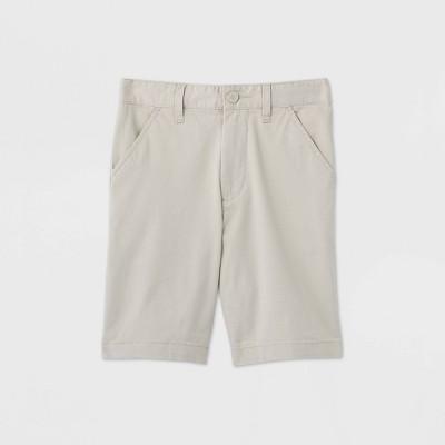 Boys' Flat Front Stretch Uniform Shorts - Cat & Jack™ Light Khaki