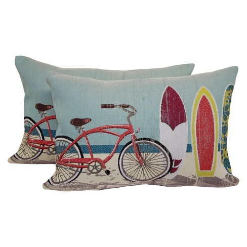 Coastal Bikes Toss Throw Pillow 2 Pack - Brentwood - image 1 of 1