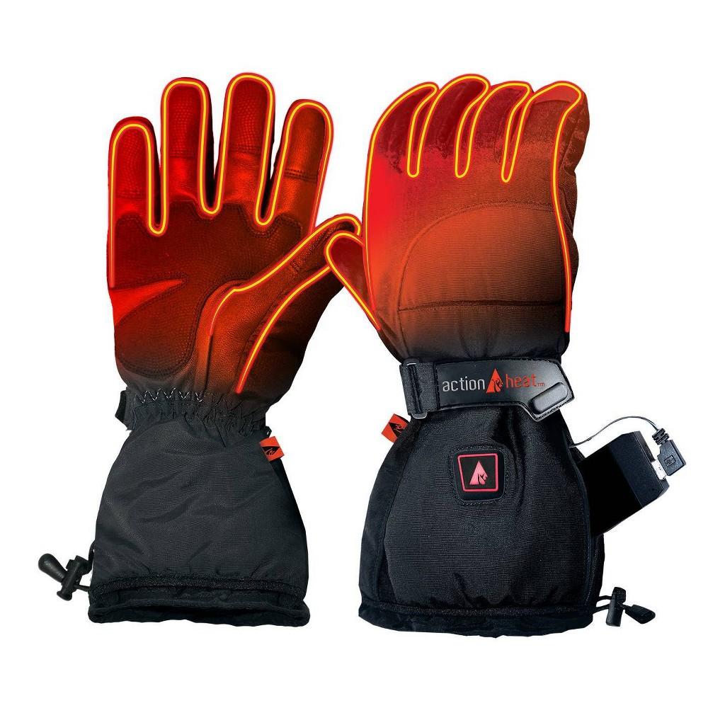 Image of ActionHeat 5V Battery Heated Men's Snow Glove - Black L, Adult Unisex, Size: Large