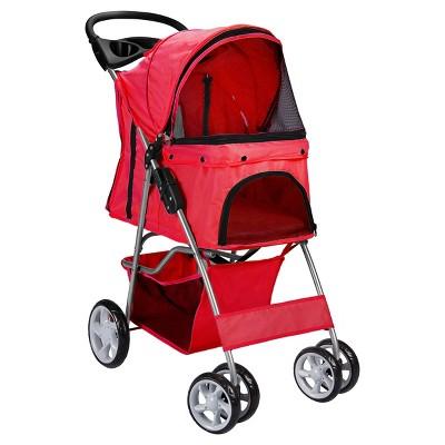 Oxgord Paws & Pals 4-Wheel Pet Stroller