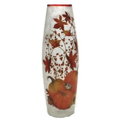 "Stony Creek 12.0"" Fall Pre-Lit Lg Vase Electric Leaves Home Decor  -  Decorative Vases"