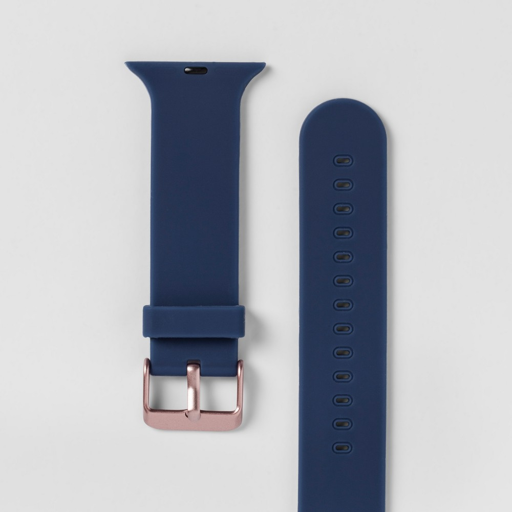 Heyday Apple Watch Band 38mm - Navy, Size: 38-40mm With the Apple Watch Silicone Band from heyday, you'll be able to instantly customize the look of your Apple Watch. This Apple Watch band will give you an easy way to achieve the style you love with your favorite everyday accessory. Thanks to the silicone construction, you'll also be sure to get a comfortable fit that lets you make the most of your technology. hey, you. It's time to make your day. So take a minute to live out loud, to power your look, and let your style speak volumes. Size: 38-40mm. Color: Navy. Gender: Unisex.