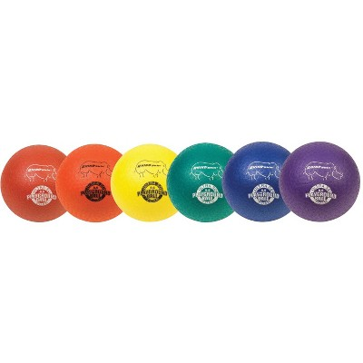 Champion 8 1/2 in,  Sports Rhino Skin Soft EEZE Playground Ball Set, set of 6