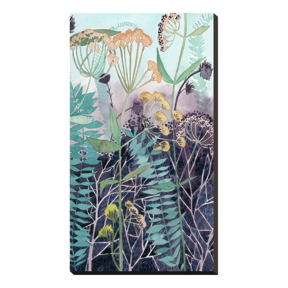 Illuminated Wildflowers II Stretched Canvas Print 17x30 - Art.com, Multicolored