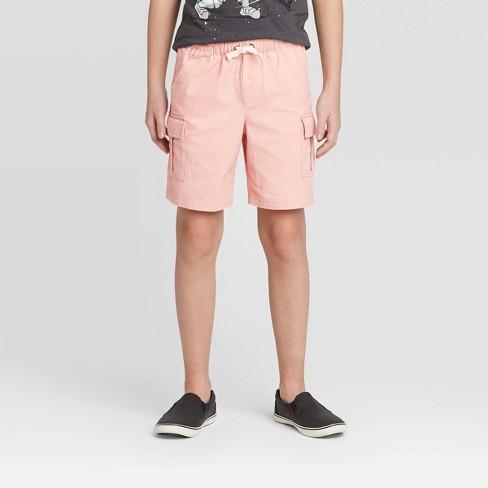Boys' Pull-On Cargo Shorts - Cat & Jack™ Pink - image 1 of 3