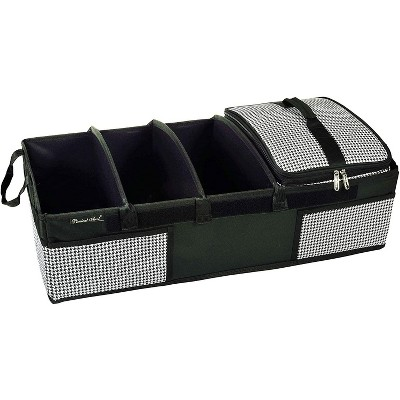 """Picnic at Ascot - Ultimate Heavy Duty Trunk Organizer w/Cooler - No Slide Rigid Base - 70 LB Capacity - 30"""" wide x 14.75"""" deep X 9"""" high - Houndstooth"""