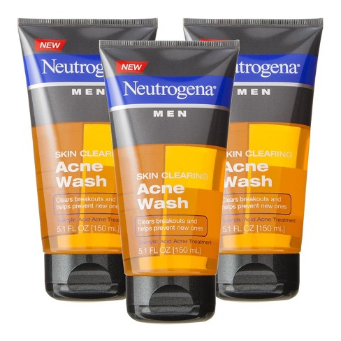 Neutrogena® Men Skin Clearing Acne Wash - 3 Pk - image 1 of 1