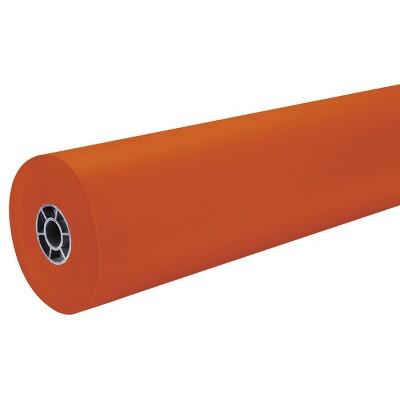 "36"" x 500' ArtKraft Duo-Finish Paper Roll - Orange"