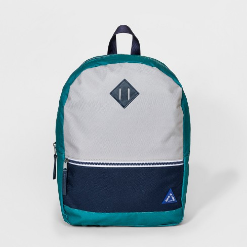 Boys' Colorblock Backpack - Cat & Jack™ Green - image 1 of 3