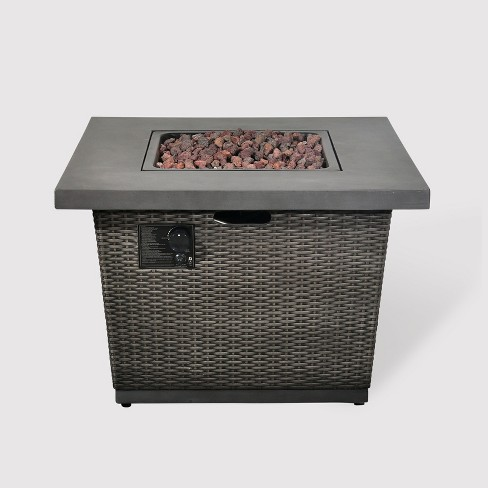 """Grand Bay 24"""" Square Fire Table - Brown - Bond - image 1 of 3"""