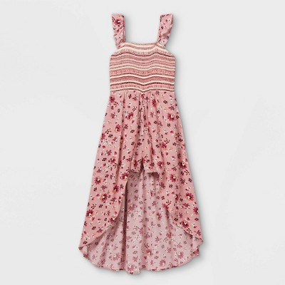 Girls' Ruffle Smocked Walk-Through Romper - art class™