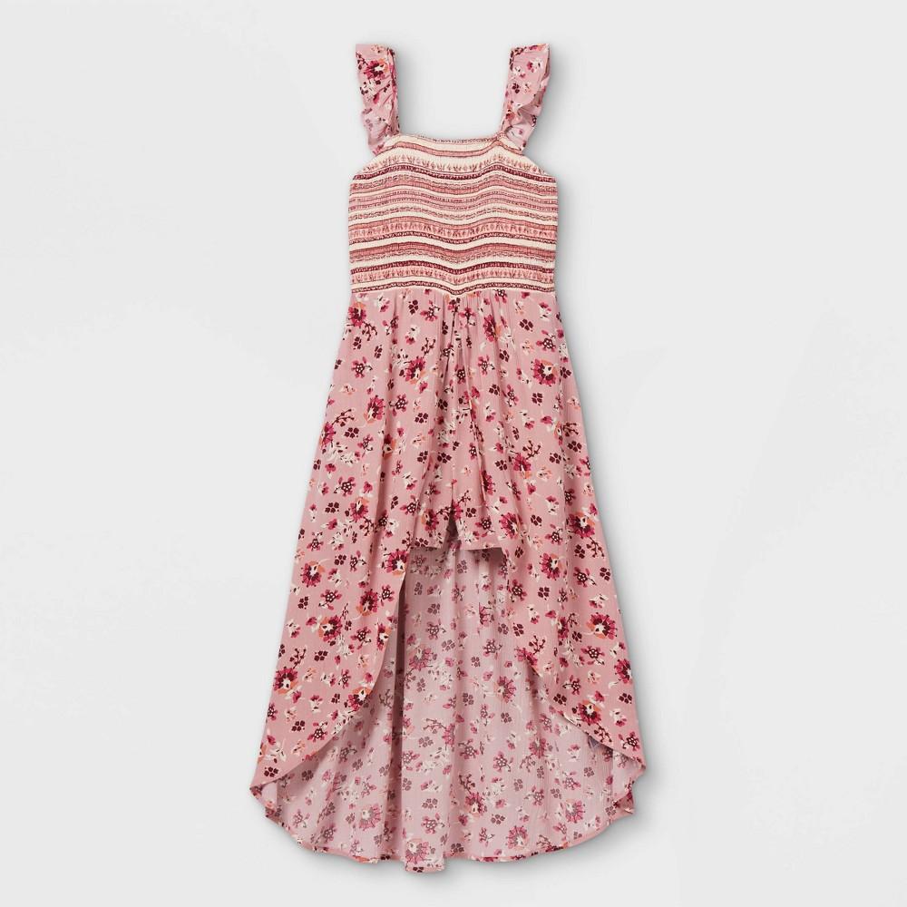 Girls 39 Ruffle Smocked Walk Through Romper Art Class 8482 Pink S