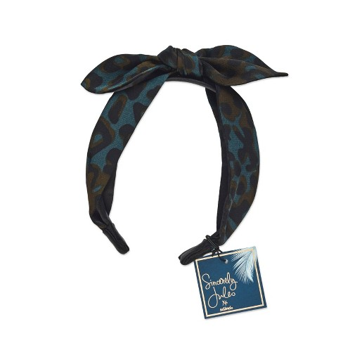 Sincerely Jules by Scunci leopard headband w/bow - image 1 of 3