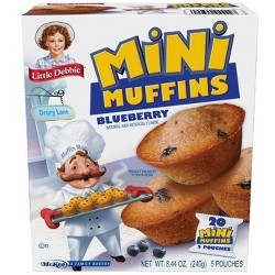 Little Debbie Blueberry Little Muffins Pouches - 5ct/8.27oz