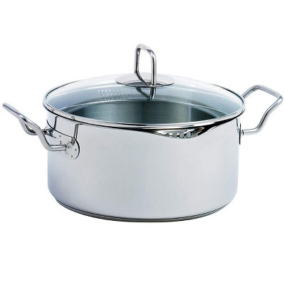 Norpro 645 Krona Stainless Steel 5 Quart Vented Cooking Pot with Straining Lid