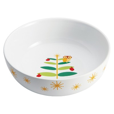 Rachael Ray Holiday Hoot Round Serve Bowl - 10""