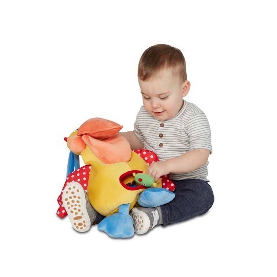 Melissa & Doug K's Kids Hungry Pelican Soft Baby Educational Toy image number null