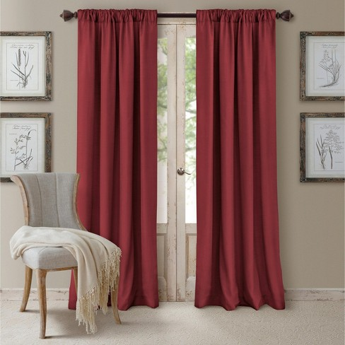 Cachet Textured Solid Blackout Window Curtain Panel - Elrene Home Fashions - image 1 of 5