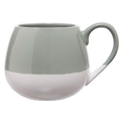 Clay Art Snuggle Mug 19oz Stoneware - Green