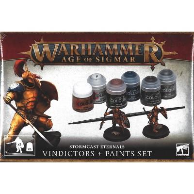Age of Sigmar Stormcast Eternals w/Paint Set Miniatures Box Set