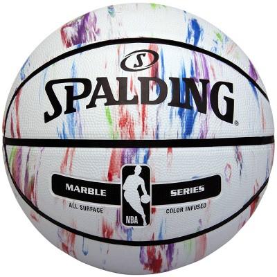 "Spalding Marble 29.5"" Basketball - White"