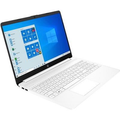 "HP 15 Series 15"" Laptop Intel Core i3 4GB RAM 256GB SSD Snow White - 10th Gen i3-1005G1 Dual-core - SVA, BrightView Panel Display"